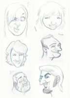 Caricature Sketches July by yooki42
