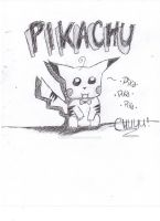 Pikachu (Uncolored) by iFluffy-Pants