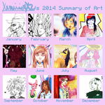 Mimi's 2014 Summary of Art by XxmimixX2