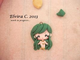 Urusei Yatsura polymer clay charm by elvira-creations