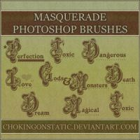 masquerade text brushes by chokingonstatic