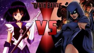 Sailor Saturn vs Raven by FEVG620