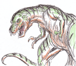 T-rex, Godzilla Love Child by dpdagger