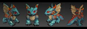 Dragonbaby Lowpoly by overmind81