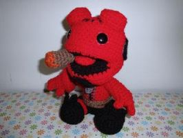 Sackboy Hellboy setting down by Simnut