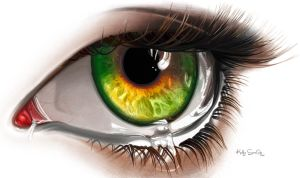Digital painting Eye by keillly
