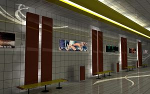 Train station by 3DEricDesign