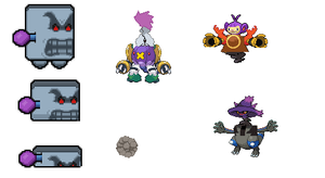 wromp and pokemon mix sprites by ryanfrogger