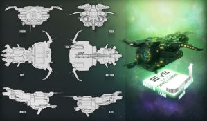 EVE Online Starship II by Larkbeef