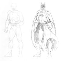 Batman - One more standing pose (Garcia-Lopez) by Almayer