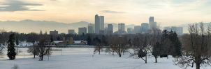 Denver at sunset by AliBahulimud