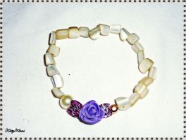Little Lilac Rose Bracelet by Cateaclysmic