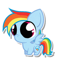 Chibi Rainbow Dash by Snowbals