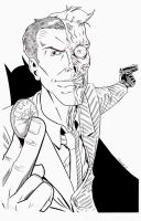 Two Face Pre Show Commission By Njvalente - Inks by eastphoto99