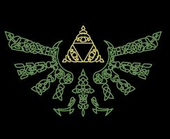Celtic Hylian Crest by Fuzzypop