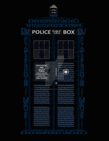 Typography TARDIS by QuietSunset