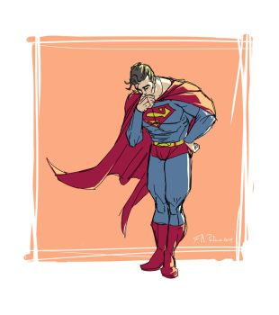 What's Superman thinking about? by francescodipastena