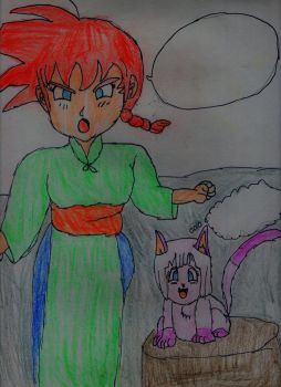 Goku 1/2 y Pan Neko by ElImaginativo