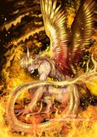 Golden dragon by Sparkly-Monster