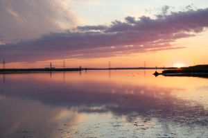 Sunset By Sheppey Bridge by lens-boy