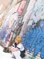 Roxas: Waiting For The Gang by pixiedustling