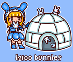 Igloo bunnies by steffne
