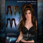 Wildstyle hair Painted Instant Hair PSD stock by MakeMeMagical