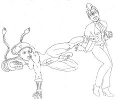 Cammy vs Viper - sketch by Autoclave07