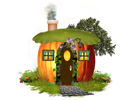 PUMPKIN HOUSE by Moonglowlilly