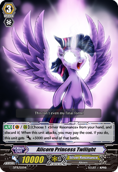 Alicorn Princess Twilight [CFV Custom Card] by YandolsZX
