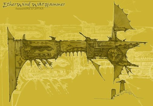 Etherwind Warship by summeronfire