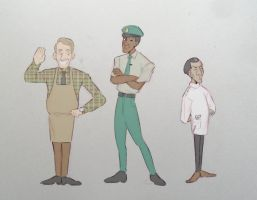 1950s Townspeople by OmiOhMy