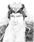 AU King Thorin Pencil Study by cfgriffith