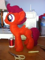 adult size scootaloo by steen85