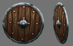 Wooden Shield by gilesruscoe