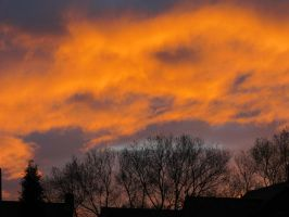 Clouds ablaze by buttercupminiatures
