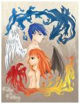 The Pheonix and The Dragon by BluexEyedxFallen