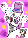 Tegaki::YAOI Slenderman and Gentleman by Sitinuramjah