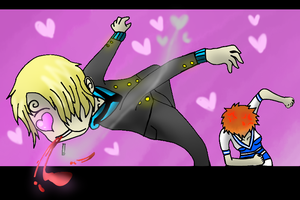 Sanji in love by Daft-punk-girl2