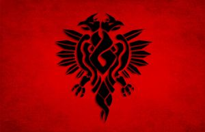 Albanian flag by deox87