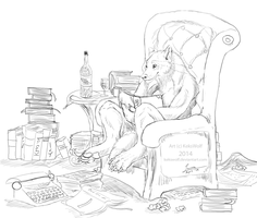 The magic of words - Commission by KeksWolf