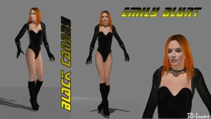 Emily Blunt - Black Canary- by 3d-lucas
