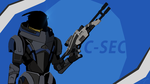 Great C-Sec Officer (Mass Effect 3) by toxioneer