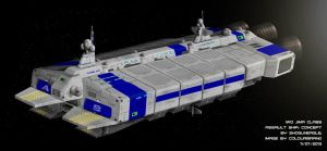 Commission: Iwo Jima Class Assault Ship Concept by Colourbrand