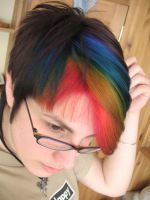 Rainbow Hair by littlehippy