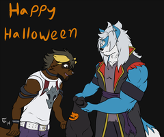 Halloween 2014 - Sev and Terry by GoldPaladinSevlow