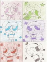 All Six Powerpuffs by Webfriends246