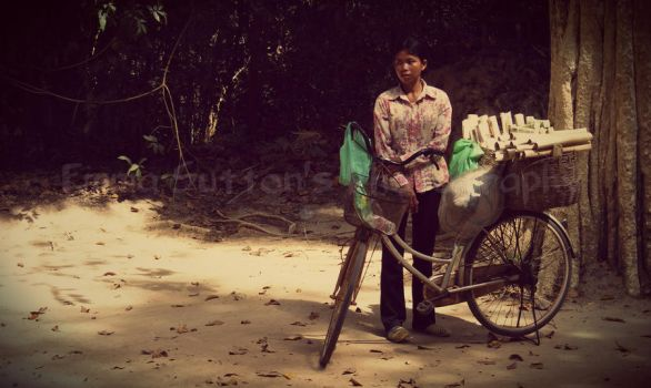 Lady with Bike by ELSphotoGeek