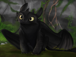 Toothless by rhonnnnie