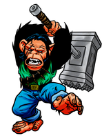 Max Monkey - Monster Masher by quibly